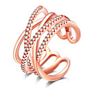 cheap Rings-Women's Ring - Rhinestone, Rose Gold Plated, Imitation Diamond Luxury, European, Simple Style One Size White / Rose For Party / Daily / Casual / Alloy