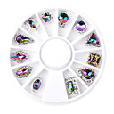 cheap LED Bulbs-1SET Rhinestones / Nail Jewelry Glitters / Metallic / Fashion Daily Nail Art Design