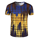preiswerte Audio & Video-Herrn Verziert - Aktiv Sport Baumwolle T-shirt, Rundhalsausschnitt Druck