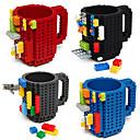 halpa Juomatarvikkeet-drinkware rakennuspalikat mukeja diy block palapeli muki caneca build-on tiili kuppi tyyppi kahvimukki