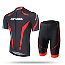cheap Cycling Jersey & Shorts / Pants Sets-XINTOWN Men's Short Sleeve Cycling Jersey with Shorts - White / Red / Blue Bike Shorts / Pants / Trousers / Jersey, Breathable, Quick Dry, Ultraviolet Resistant, Sweat-wicking Lycra / Stretchy