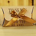 cheap Favor Holders-Pillow Card Paper Favor Holder with Ribbons Favor Boxes - 30