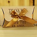 abordables Invitaciones de boda-Almohada Papel de tarjeta Soporte para regalo  con Cintas Cajas de regalos