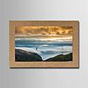 abordables Adhesivos de Pared-Laminados en lienzo Famoso Paisaje Clásico Realismo, Un Panel Horizontal Panorámico Estampado Decoración de pared Decoración hogareña