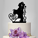 cheap Cake Toppers-Cake Topper Classic Theme Classic Couple Acrylic Wedding Anniversary with 1 OPP
