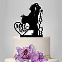 رخيصةأون أربطة الجوارب للأعراس-كعكة توبر كلاسيكيClassic Theme كلاسيكي زوجين أكريليك زفاف الذكرى السنوية مع 1 OPP