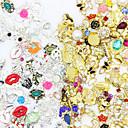 abordables Decoraciones y Diamantes Sintéticos para Manicura-50pcs Joyas de Uñas Brillantes arte de uñas Manicura pedicura Diario Glitters / Metálico / Moda / Joyería de uñas
