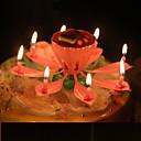 preiswerte Kerzen & Kerzenhalter-musikalische lotus blume kerzen alles gute zum geburtstag kerze für party geschenk licht dekoration