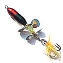 رخيصةأون طعم صيد الأسماك-1 pcs خدع الصيد طعم صيد جامد الطعم الدوار بلاستيك معدن الريش الغرق الصيد العام