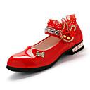 baratos Adesivos de Parede-Para Meninas Sapatos Sintéticos Verão Sapatos para Daminhas de Honra Sandálias Colchete para Preto / Vermelho / Rosa claro / Casamento / Festas & Noite