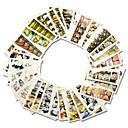 رخيصةأون ملصقات الأظافر-1set 30sheets ملصق نقل المياه فن الأظافر تجميل الأظافر والقدمين موضة يوميا