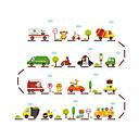 preiswerte Wand-Sticker-Cartoon Design Transport Sport Wand-Sticker Flugzeug-Wand Sticker Dekorative Wand Sticker, Vinyl Haus Dekoration Wandtattoo Wand Glas /
