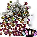 billige Rhinsten&Dekorationer-500-600pcs/bag Glitter Negle Smykker Rhinsten Smuk Negle kunst Manicure Pedicure Daglig glitter / Bryllup / shimmering / Negle smykker