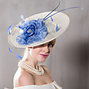 cheap Party Headpieces-Feather Flax Silk Headpiece-Wedding Special Occasion Casual Outdoor Fascinators Hats 1 Piece