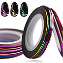 baratos Papel Alumínio para Unhas-1set 10rolls Fita de folha de prego arte de unha Manicure e pedicure Fashion Diário / Fita de decapagem