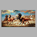 cheap Oil Paintings-Oil Painting Hand Painted - Animals Modern Stretched Canvas