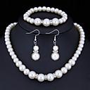 abordables Juego de Joyas-Mujer Cristal Conjunto de joyas - Perla Artificial, Brillante Básico Incluir Blanco Para Regalos de Navidad / Boda / Fiesta