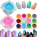 cheap Rhinestone & Decorations-1bottle hot fashion colorful nail art glitter mermaid powder decoration magic mirror effect sparkling powder nail glitter pigment nail beauty m01 12