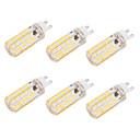 billige LED-bi-pinlamper-BRELONG® 6W 550 lm G9 E26/E27 LED-kolbepærer T 80 leds SMD 5730 Dæmpbar Dekorativ Varm hvid Kold hvid AC 110-130V AC 220-240V