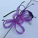 cheap Party Headpieces-Feather / Net Headbands / Fascinators with 1 Wedding / Special Occasion / Casual Headpiece