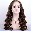 preiswerte Haarteil-Remi-Haar Spitzenfront Perücke Lose gewellt 130% Dichte 100 % von Hand geknüpft Afro-amerikanische Perücke Natürlicher Haaransatz Kurz