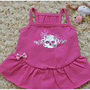 cheap Dog Clothes-Dog Shirt / T-Shirt Dress Dog Clothes Solid Colored Fuchsia Cotton Costume For Pets Men's Women's Cute Casual/Daily Fashion