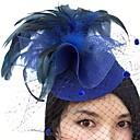 رخيصةأون قطع رأس-ريشة / صاف قطع زينة الرأس / قبعات / غطاء شفاف للوجه مع 1 زفاف / مناسبة خاصة خوذة
