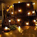 abordables Tiras de Luces LED-4m de la novedad 20 del globo LED lámparas de cuerda festón conectable bola del partido de boda de cuento guirnalda colgante de jardín