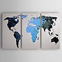 abordables Toiles-Peinture à l'huile Hang-peint Peint à la main - Abstrait Moderne Inclure cadre intérieur / Trois Panneaux