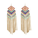cheap Earrings-Women's Tassel / Beads Drop Earrings - Tassel, Bohemian, Fashion Gold For Wedding / Party / Daily
