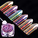 baratos Adesivos de Unhas-6box Glitter & Poudre Glitters / Clássico / Neon & Bright Diário