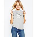 cheap Kigurumi Pajamas-Women's Chic & Modern T-shirt - Animal / Spring / Fall