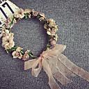 baratos Acessórios de Cabelo-Chifon Bandanas Flores Grinaldas Capacete