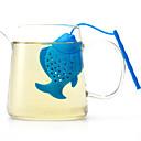 baratos Café e Chá-O peixe de silicone fabrica artigos de moda de chá para uso diário cor criativa aleatória