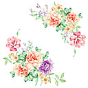 cheap Clothing Storage-Fashion Florals Cartoon Wall Stickers Plane Wall Stickers Decorative Wall Stickers, Vinyl Home Decoration Wall Decal Wall Toilet