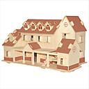 baratos Quebra-Cabeças 3D-Blocos de Construir Quebra-Cabeças 3D Quebra-Cabeça Quebra-Cabeças de Madeira Brinquedo Educativo Construções Famosas Arquitetura Chinesa
