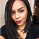 cheap Synthetic Capless Wigs-lace frotal 3s box braid wig 16inch synthetic braiding wig dark brown 4 color 16inch 1pcs