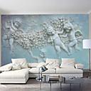 baratos Murais de Parede-Anjo bebê personalizado 3d grande parede cobrindo mural papel de parede ajuste restaurante quarto escritório igreja
