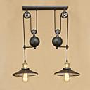 رخيصةأون أضواء السقف والمعلقات-2-الضوء أضواء معلقة ضوء محيط طلاء ملون معدن المصممين 110-120V / 220-240V يشمل لمبات / E26 / E27