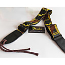cheap Instrument Accessories-Random Color Professional Straps High Class Guitar Acoustic Guitar Ukulele New Instrument Leather Musical Instrument Accessories Red Yellow Orange