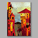 cheap Landscape Paintings-Oil Painting Hand Painted - Landscape Modern / European Style Canvas / Stretched Canvas