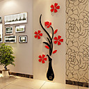 abordables Incluir marco interior-Navidad Romance Florales Pegatinas de pared Calcomanías 3D para Pared Calcomanías Decorativas de Pared,Vinilo Material Decoración hogareña