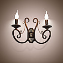 cheap Wall Sconces-Rustic / Lodge / Retro Wall Lamps & Sconces Metal Wall Light 110-120V / 220-240V 45W