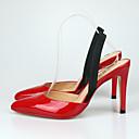 ieftine Sisteme Alarmă Hoți-Unisex Pantofi PU Vară Pantof cu Berete / Pantofi Club Sandale Toc Stilat Vârf ascuțit Găuri Alb / Negru / Rosu / Party & Seară / Party & Seară