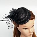 preiswerte Parykopfbedeckungen-Tüll / Feder Fascinatoren / Hüte / Kopfbedeckung mit Blumig 1pc Hochzeit / Besondere Anlässe Kopfschmuck