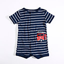 cheap Baby Girls' One-Piece-Baby Boys' Daily Striped One-Pieces, Cotton Summer Short Sleeves Blue