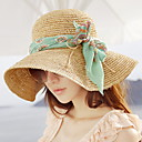 baratos Botas Masculinas-Mulheres Férias Chapéu de sol Sólido