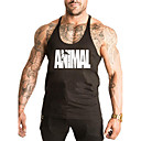cheap Eye Kits & Palettes-Men's Sports / Beach Casual / Active / Street chic Cotton Tank Top - Letter Round Neck / Sleeveless / Summer