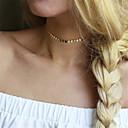 olcso Divat nyaklánc-Női Egyszálas Rövid nyakláncok - Személyre szabott, Divat, Euramerican Arany, Ezüst Nyakláncok Ékszerek Kompatibilitás Parti, Különleges alkalom, Napi