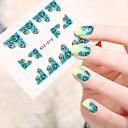 abordables Adhesivos Completos para Uñas-5pcs/set Etiqueta engomada de la transferencia arte de uñas Manicura pedicura Moda Diario
